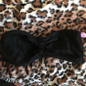 VS PINK Unlined Black Lace Bandeau